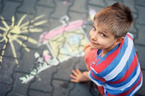 Chalk Drawing on Sidewalk