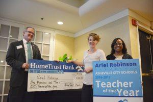 Teacher of the year Ariel Robinson.