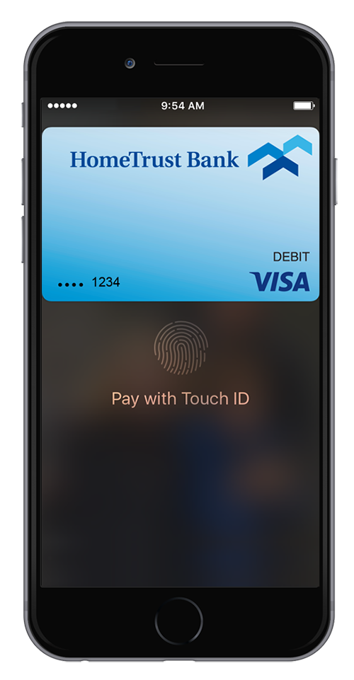 Apple Pay shown on an iPhone