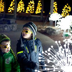 Winter Lights 3 -kids in jackets