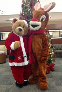 Rudolph and a Santa Bear
