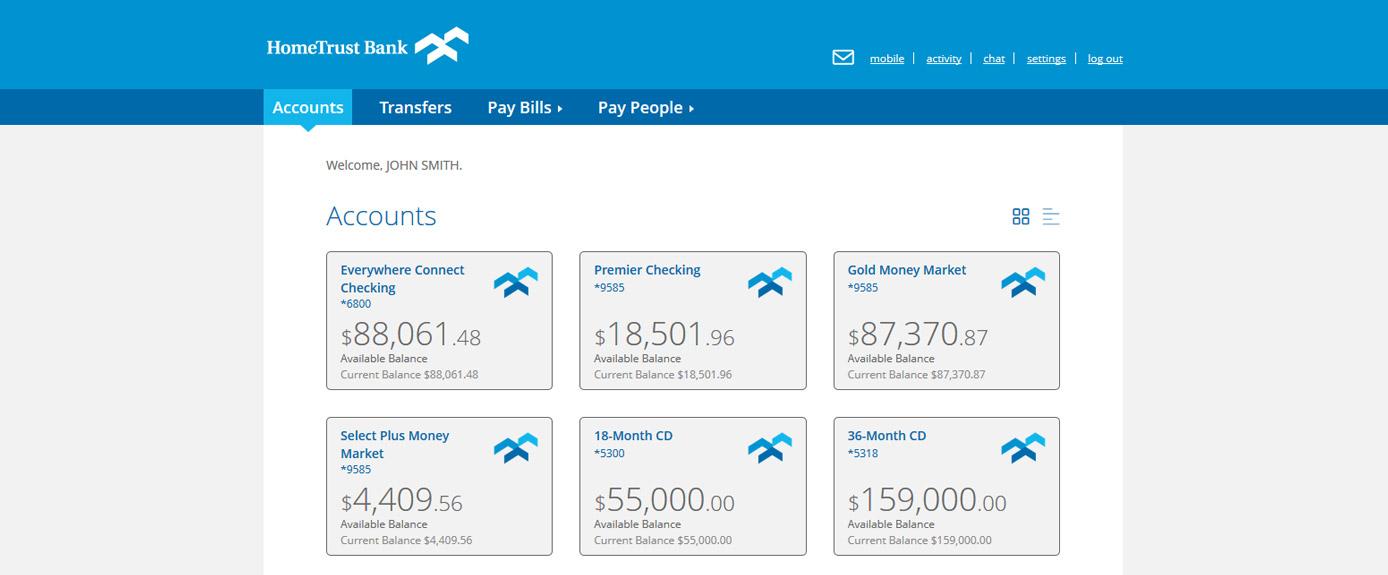 HomeTrust Bank's Personal Online Banking
