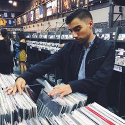 Man Shopping at Record Store