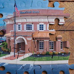 bank branch as a puzzle