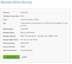 Incoming Wire Transactions | Wire Transfer | HomeTrust Bank on