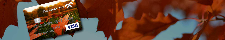 Custom card with fall leaves